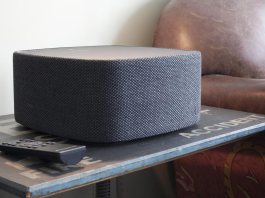 Cambridge Audio's Yoyo (L) streaming speaker.