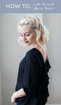 How To Do A Side Braid On Short Hair - Poor Little It Girl