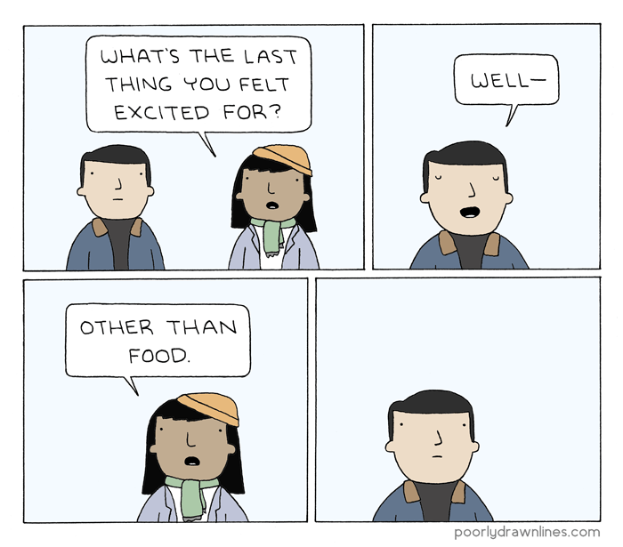 poorly drawn lines excited