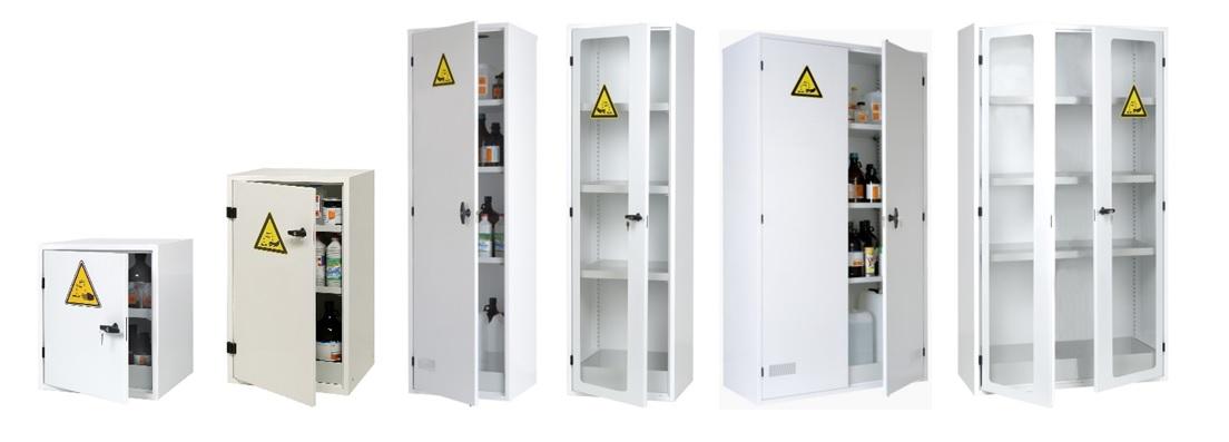une armoire produit chimique permet selon les classes et les finitions de stocker des produits toxiques
