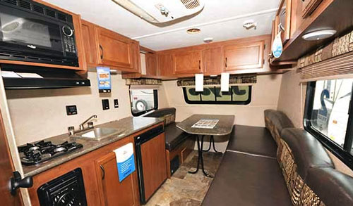travel trailers with rear kitchen rolling cabinet jay flight slx 145rb | small
