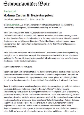 Kompetenztag Kreismedienzentrum FDS