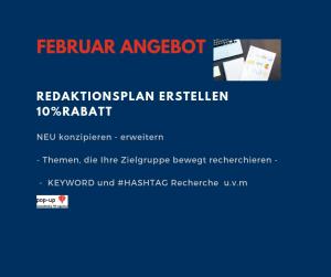 Angebot des Monats Februar 2019 pop-up-SocialMedia-PR-Agentur