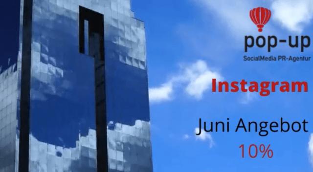 Instagram Business Kanal 10% Rabatt auf Aufbau und Beratung