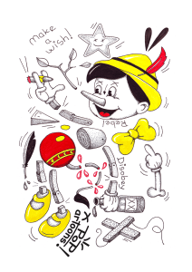 Popartoons ink drawing. Available for  purchase.