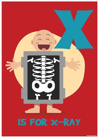 x ray alphabet art mini poster popartuk