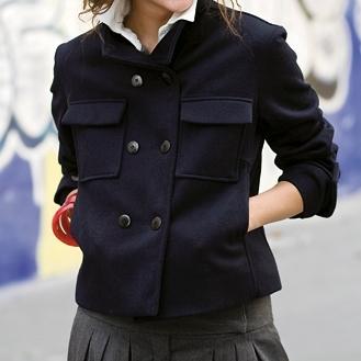 Caban bleu marine  Pop Couture