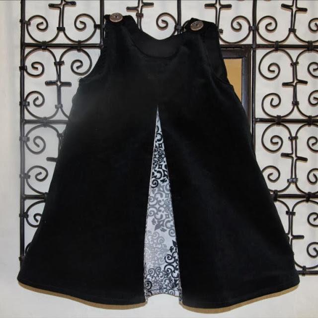 Ajouter un pli creux  une robe chasuble  Pop Couture