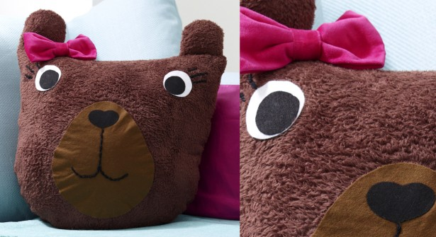 Doudou coussin ours  Pop Couture