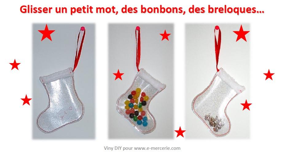 Botte de Nol en cristal paillet  Pop Couture