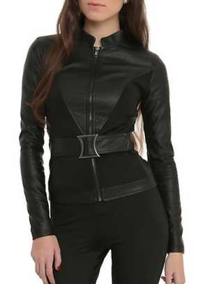 hot topics black widow jacket