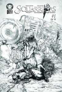 Squarriors #1 sketch cover - order now via your comic book shop
