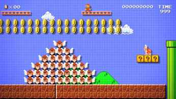 A Super Mario Maker-created world