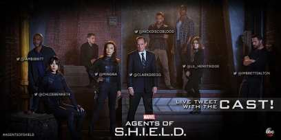 Tweet the cast of Agents of SHIELD