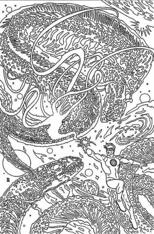 Green Lantern# 48 by Michael Allred