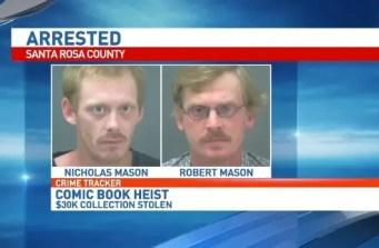 Comic Heist arrest