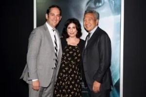 (l.-r.) Greg Silverman, Susan Kroll, and WB CEO Kevin Tsujihara