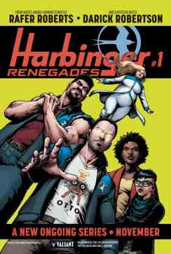 """HARBINGER RENEGADE posters, measuring in at a colossal 24""""x36"""" and perfect for decorating walls, windows, or ceilings of your favorite local comic book store"""