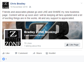 Bradley Zone Booking 1