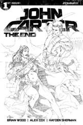 John Carter The End #1 - Cover G by Mel Rubi (20 Copy B&W Variant)