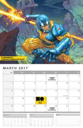 X-O MANOWAR 2017 CALENDAR – Interior Art by Kenneth Rocafort