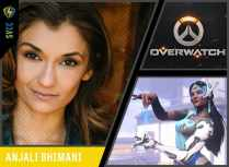 Best known as the voice of Symmetra in Overwatch and Nisha in Fallout 4: Nuka-World