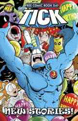"The Tick celebrates FCBD 2017 with 32 pages of full-color fun! In the all-new 15-page lead, ""Happy Birthday, Tick!"", The Tick throws himself the ultimate super-party! But he invites both good guys and bad guys, figuring everyone can be pals in the interest of birthday celebrating! Party plans may go awry when The Terror attends along with his ninjas! Backup story: the presidential election saga, ""Civic Duty"", previously only seen in a limited convention special. 29 pages of FCBD fun! This is going to be a BIG year for The Tick with the new Amazon TV show! [ALL AGES]"
