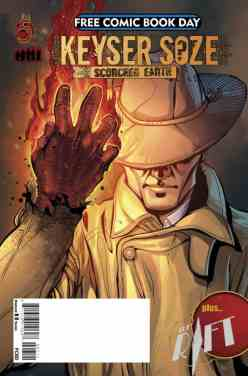 Red 5 Comics and Bryan Singer's Bad Hat Harry Productions present a tale featuring the early years of one of cinema's most mysterious villains, Keyser Soze. Also included is a new time travel adventure featuring a displaced WWII pilot entitled The Rift presented by Jeremy Renner. [TEEN]