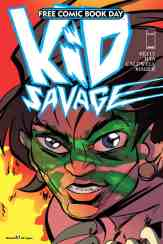 "A mysterious wildboy becomes an unwilling guide to the dysfunctional ""First Family in Space"" when they crash land on his primordial and dangerous planet. ""Kid Savage"" must help a disconnect science-minded dad, his nervous son, and too-cool-to-care daughter survive the rigors of his world if he is to learn the true meaning of family and make amends for the sins of his mysterious past. Man of Action Entertainment (Ben 10, Big Hero 6, Camp Midnight, I Kill Giants) presents this epic all-ages adventure from the minds of Joe Kelly and Ilya. [ALL AGES]"