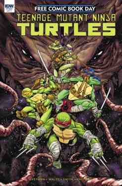 Prequel to the upcoming TMNT: Dimension X 5-week event this August! Krang was defeated by the Teenage Mutant Ninja Turtles and now awaits trial in Dimension X. Little do the Turtles know that Krang hired an assassin to destroy everyone who might testify against him, including themselves! This issue introduces a deadly and weird new villain, and begins the biggest Teenage Mutant Ninja Turtles adventure in space ever! [ALL AGES]