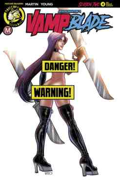 Vampblade Season Two #4 - Cover F Risque Variant by Renzo Rodriguez