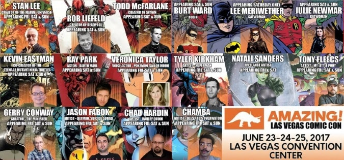 Amazing Las Vegas Comic Con (June 23-25): Guests | Programming | AfterParty