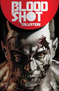 Brushed Metal Variant Available for BLOODSHOT SALVATION #1 only, Valiant's latest, stunning metal cover comes printed via a special process on an actual brushed aluminum metal sheet featuring artwork by interior artist Mico Suayan