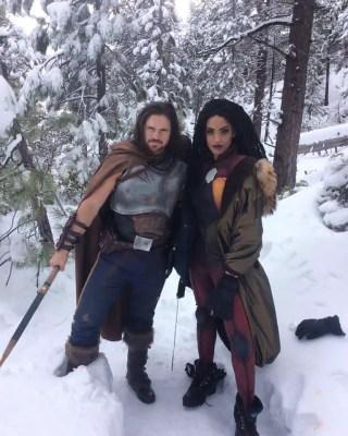 John Hennigan (Eternal Warrior) and Ciera Foster (Livewire)