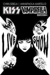 Kiss/Vampirella #3 (of 5) - B&W Incentive Cover by Carli Ihde
