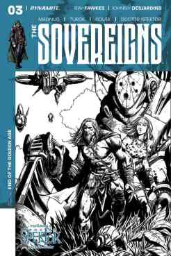 Sovereigns #4 - B&W Incentive Cover by Johnny Desjardins