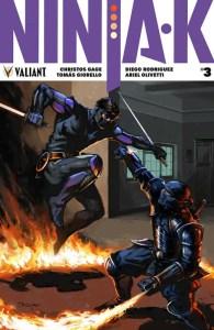 Ninja-K #3 - Cover B by Lucas Troya
