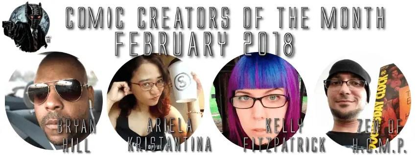 Comic Creators - February 2018