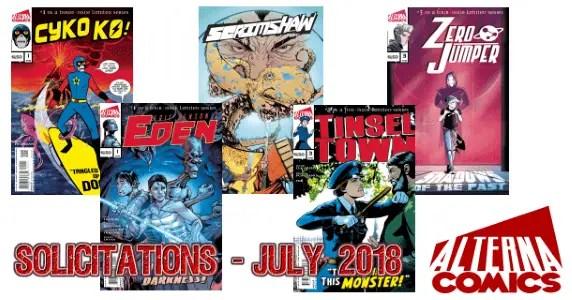 Alterna Comics Solicits - July 2018