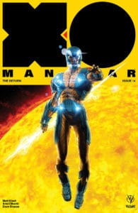 X-O Manowar #14 - Cover A by Kaare Andrews