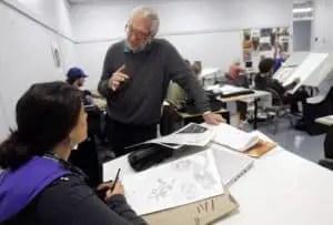 Joe Kubert at Kubert School