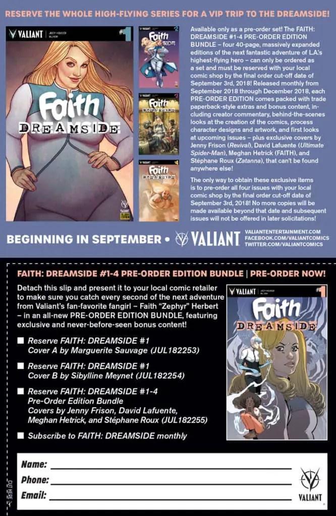 FAITH: DREAMSIDE #1-4 PRE-ORDER EDITION BUNDLE Coupon