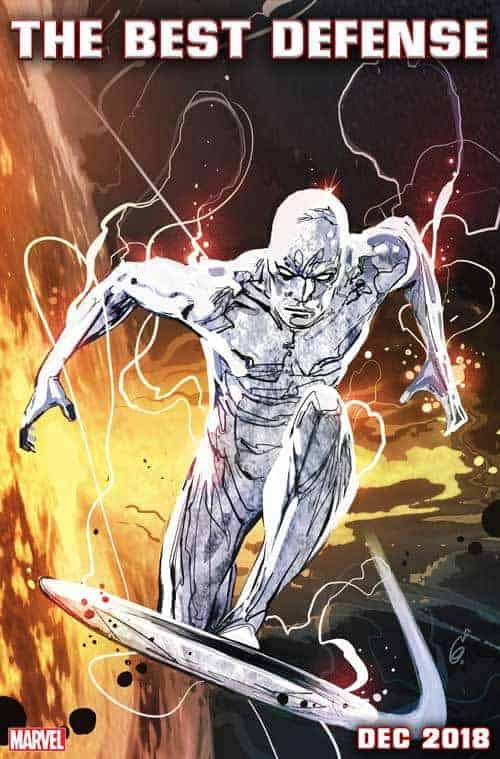 SILVER SURFER: THE BEST DEFENSE cover by Ron Garney & Richard Isanove