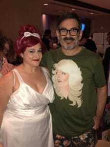 Dan Parent with Angel Kitty cosplayer at Flame Con 2018