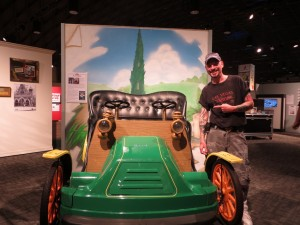 An odd item for the Disney display is an older version of a car from Mr. Toad's Wild Ride at Disneyland. I had to look under it to verify that it is a real car and not a reproduction.
