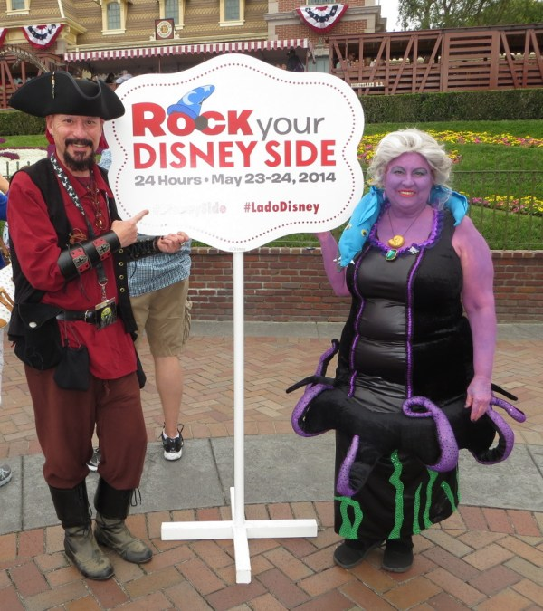 "Author, Jim Cartwright and his sister, Donna. ""We rocked our Disney side to its very core."""