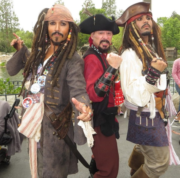 Found two Jack Sparrows while hanging around Pirates of the Caribbean.