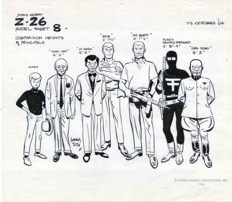 jonny-quest-model-sheet