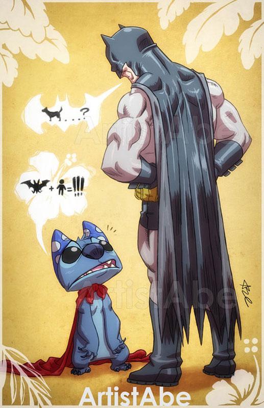 stitch-&-batman-lopez