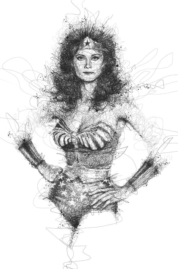 Woman Drawing Wonder Line
